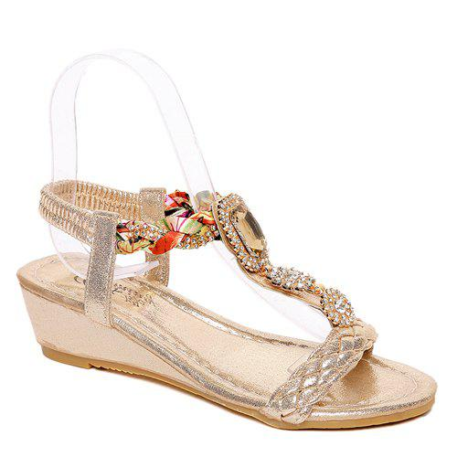 Trendy Color Splicing and Weaving Design Women's Sandals