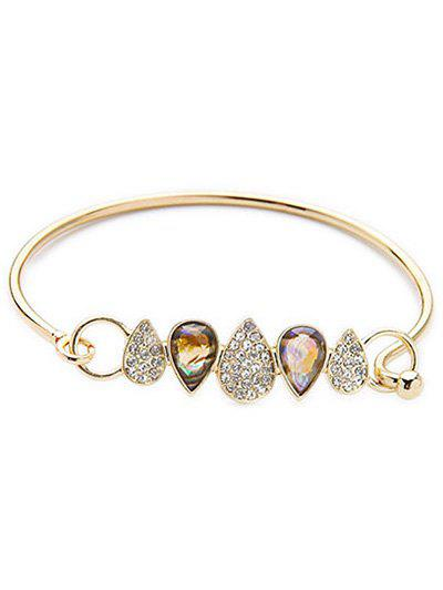 Rhinestone Water Drop Bracelet - GOLDEN