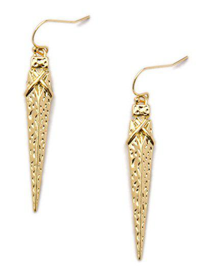 Vintage Triangle Drop Earrings - GOLDEN