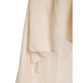 Glamour Strapless Swallowtailed Sequin Embellished Chiffon Women's Dress - WHITE WHITE