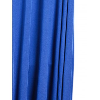 Plunging Neck Sleeveless Spliced Printed Backless Women's Dress - ROYAL BLUE L