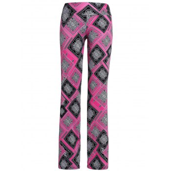Casual Women's Tribal Print Loose-Fitting Wide-Leg Pants