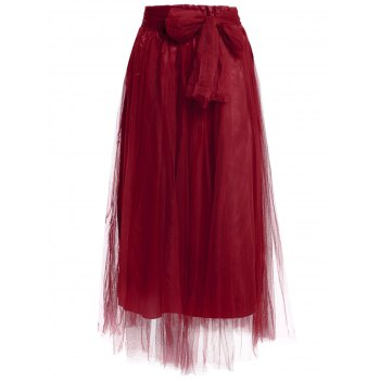 Stylish Solid Color Floor-Length High-Waisted Skirt For Women