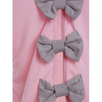 Cute Bowknot Round Neck Backless Knitted Vest For Women - XL XL