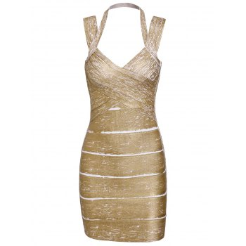 Solid Color Sexy Sweetheart Neck Backless Women's Bandage Dress
