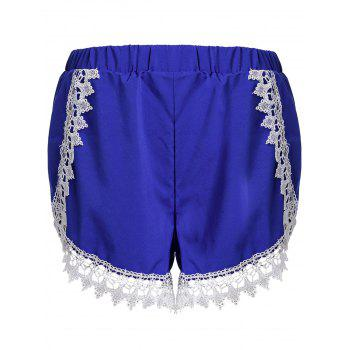 Sweet Laced Elastic Waist Loose Shorts For Women