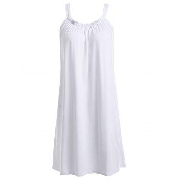 U Neck Sleeveless Solid Color Pleated Charming Women's Dress