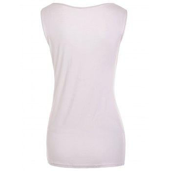 Fashionable Sleeveless Solid Color T-Shirt For Women - XL XL