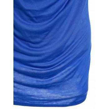 Fashionable Sleeveless Solid Color T-Shirt For Women - M M