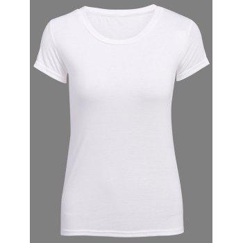Sweet Candy Solid Color Chic Clipping T-Shirt For Women