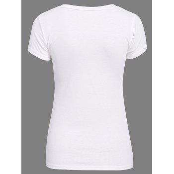 Sweet Candy Solid Color Chic Clipping T-Shirt For Women - ONE SIZE ONE SIZE