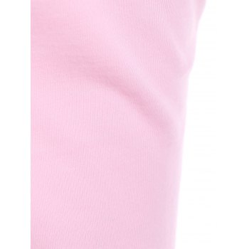 Elegant Plunging Neck Sleeveless Sheathy Criss-Cross Solid Color Women's Dress - PINK S