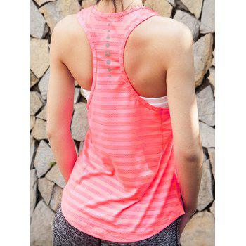 Sports Racerback Scoop Neck Striped Women's Tank Top