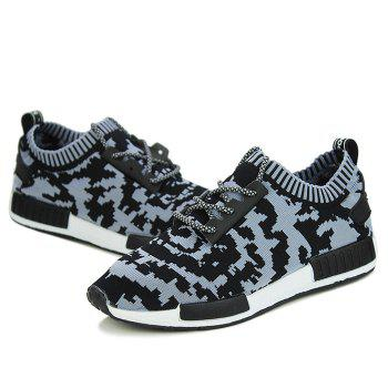 Fashionable Color Splicing and Lace-Up Design Men's Athletic Shoes - 44 44