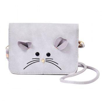 Leisure Metal and Mouse Pattern Design Women's Crossbody Bag