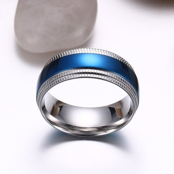 Chic Alloy Colored Ring For Men - BLUE ONE-SIZE