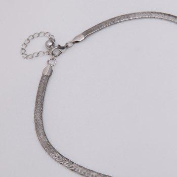 Engraved Moon Necklace - SILVER