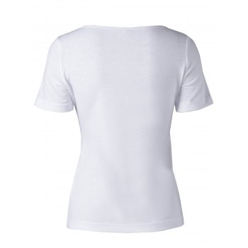 Stylish Printing Top  For Women - WHITE M