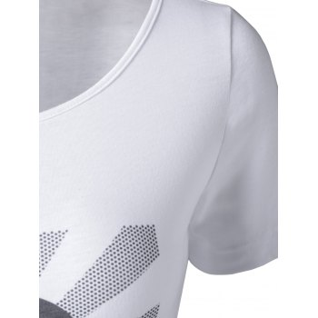 Stylish Printing Top  For Women - WHITE S
