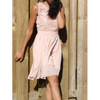 Round Collar Fashion Sleeveless Dress For Women