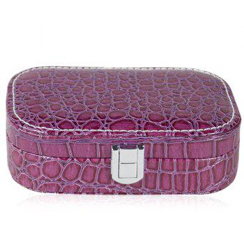 Trendy Stone Print and Hasp Design Women's Cosmetic Bag - PURPLE PURPLE