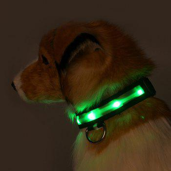 Eye-Catching Night Walk Dotted LED Luminous Nylon Dogs Collar