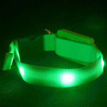 Stylish LED Flashing Night Walk Metal Buckle Nylon Dog Collar