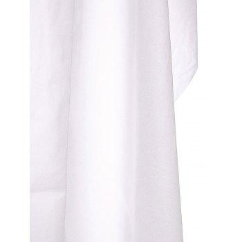 Sleeveless Lapel Trench Coat With Belt - WHITE S