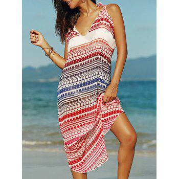 Stylish Cami Ethnic Print Chiffon Women's Dress