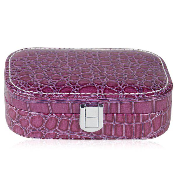 Trendy Stone Print and Hasp Design Women's Cosmetic Bag - PURPLE