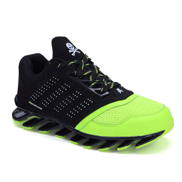 Stylish Breathable and Color Splicing Design Men's Athletic Shoes - NEON GREEN 44