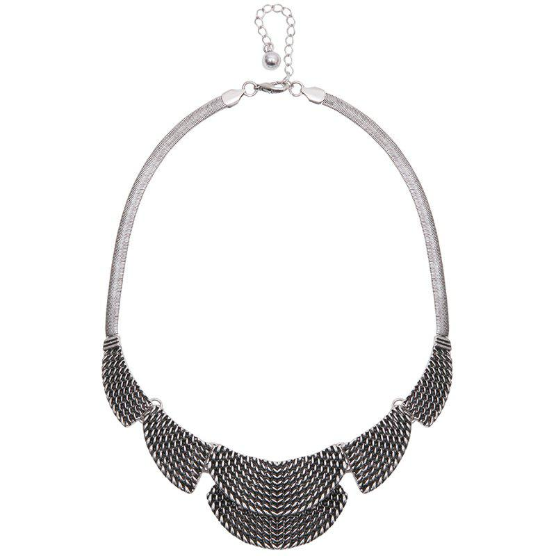 Chic Engraved Moon Necklace For Women