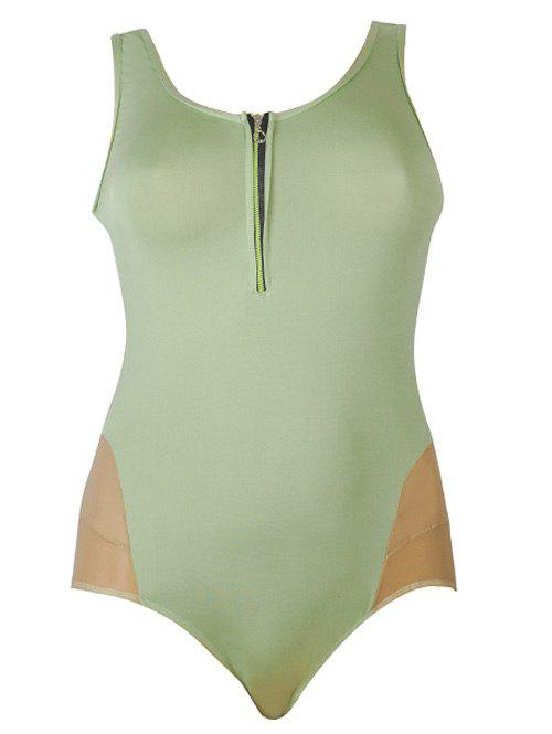 Sexy Womens U-Neck Light Green SwimsuitWomen<br><br><br>Size: 5XL<br>Color: LIGHT GREEN