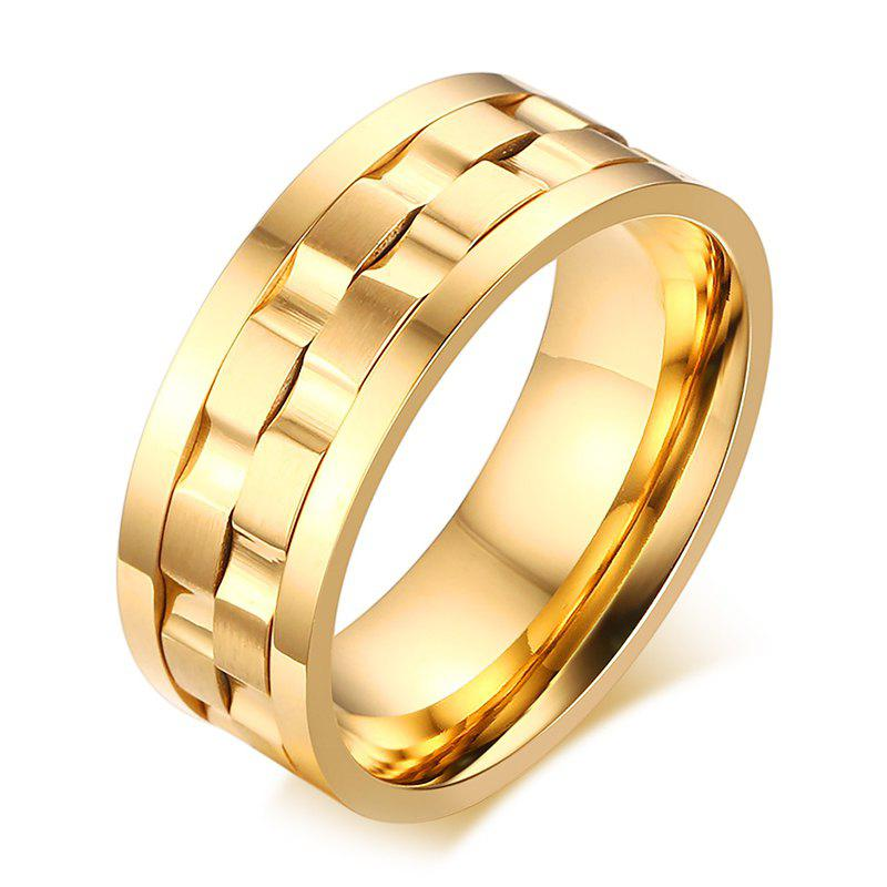 Delicate Alloy Rotatable Ring For Men - GOLDEN ONE-SIZE