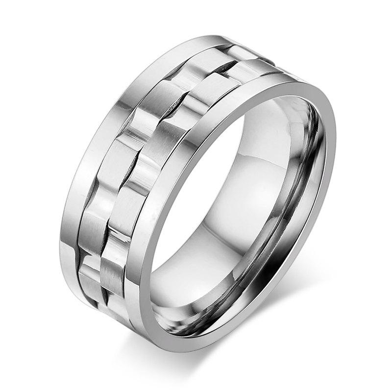 Delicate Alloy Rotatable Ring Jewelry For Men - SILVER ONE-SIZE