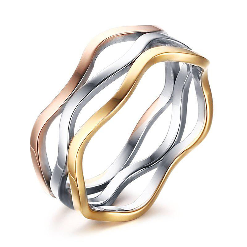 Chic Multilayered Colored Ring For Women - ONE-SIZE COLORMIX