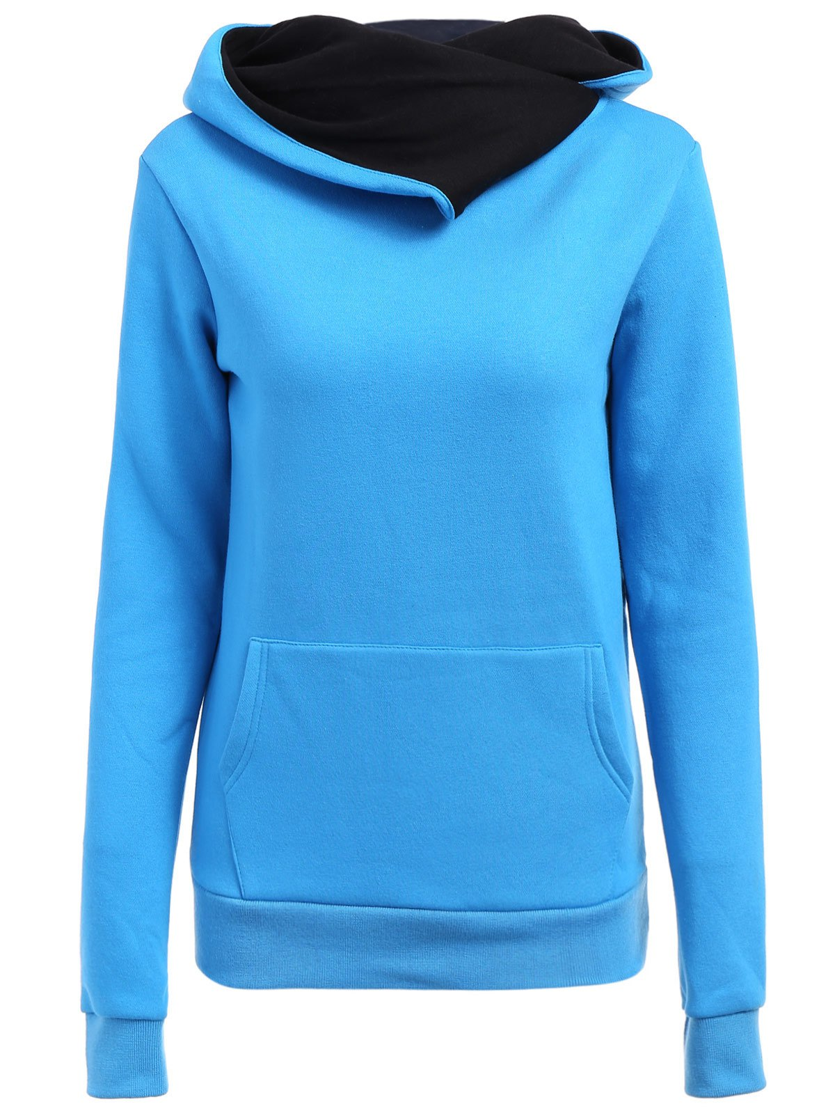 Casual Style Loose-Fitting Solid Color Long Sleeve Hoodie For Women fashionable solid color long sleeve loose fitting hoodie for women