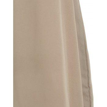 Brief Sleeveless V Neck Solid Color Women's Dress - COFFEE COFFEE
