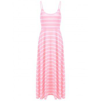 Sweet Women's Spaghetti Strap Stripe Maxi Dress