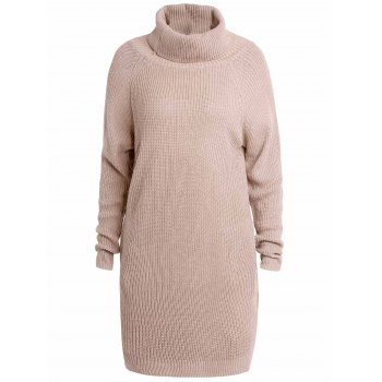 Stylish Long Sleeve Turtleneck Loose-Fitting Pure Color Women's Long Sweater