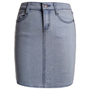 Sexy Skinny Buttoned Denim Skirt For Women