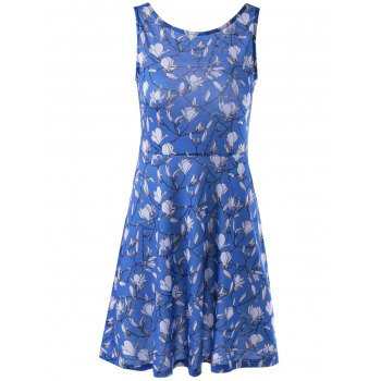 Stylish Printing Vest Dress For Women - COLORMIX S