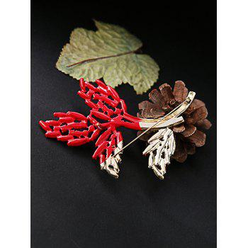 Statement Rhinestone Branch Brooch - COLORMIX