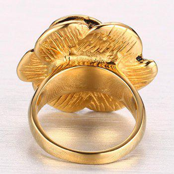Rose Casting Titanium Ring - GOLDEN ONE-SIZE