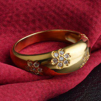 Chic Rhinestone Engraved Floral Ring For Women