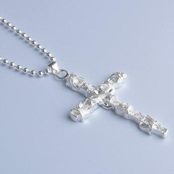 Crucifix Alloy Hollow Out Necklace - SILVER