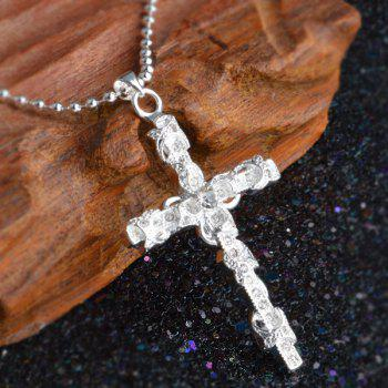 Crucifix Alloy Hollow Out Necklace