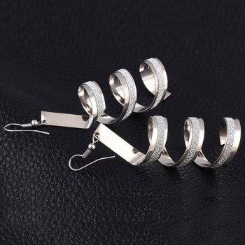 Pair of Alloy Twisted Round Earrings - SILVER