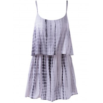 Fashionable Spaghetti Strap Tie-dye  Casual Loose-Fitting Women's Romper