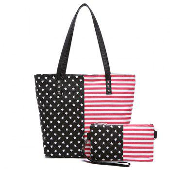 Leisure Stars and Stripes Design Women's Shoulder Bag
